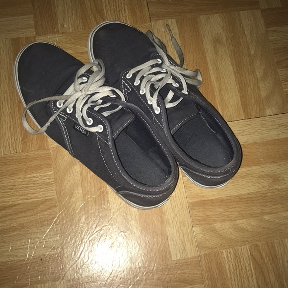 Shoes - Blue and White Low Top VANS